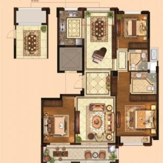 三室两厅两卫124平