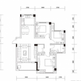 1-6号楼建面100平户型