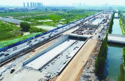 扬子江隧道江北连接线隧道封顶