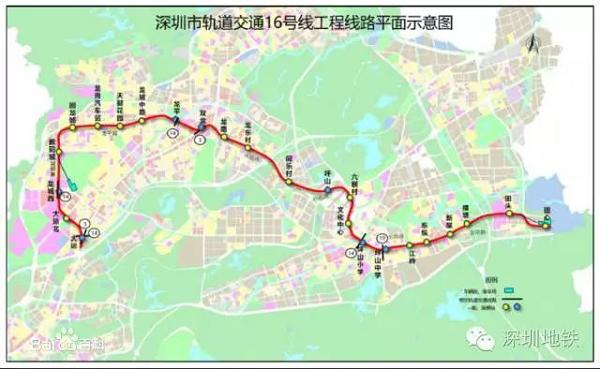 深圳地铁16号线-深圳地铁线路图 轨道交通图片