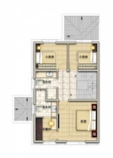 联排别墅北175平二层