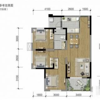 8栋标准层A1户型