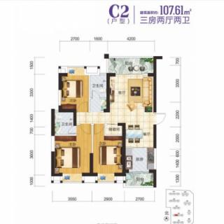 2-3-7栋住宅C2户型