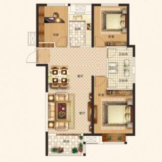 三期3室2厅2卫H1/H2户型