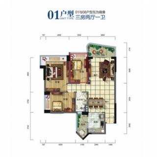 酒店式公寓多层01户型