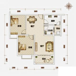 高层公寓2#-6#B户型