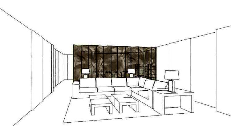 阿玛尼室内设计工作室黑曜金套房设计图稿