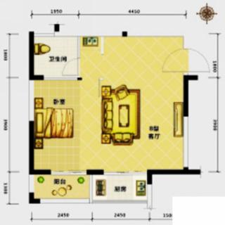 高层公寓2-18层B户型