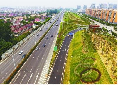 北密南疏问题; 2017年8月1日,扬子江隧道江北连接线快速化改造工程