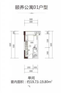 颐养公寓01户型(单间)