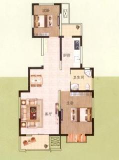 小高层标准层91平米户型