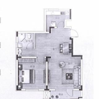 洋房标准层A1户型