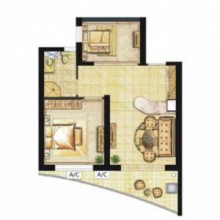 听澜公寓E2-2户型