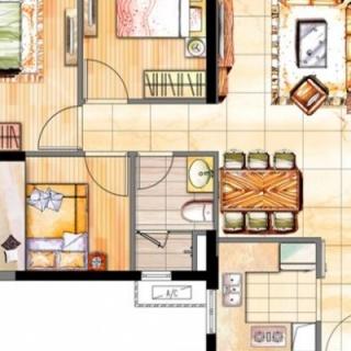 二期88平三房户型