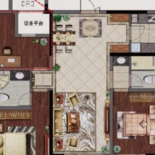 126平三房两厅两卫