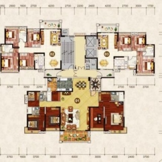 1栋1梯楼层平面图