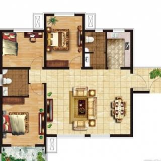 三室两厅两卫122㎡户型