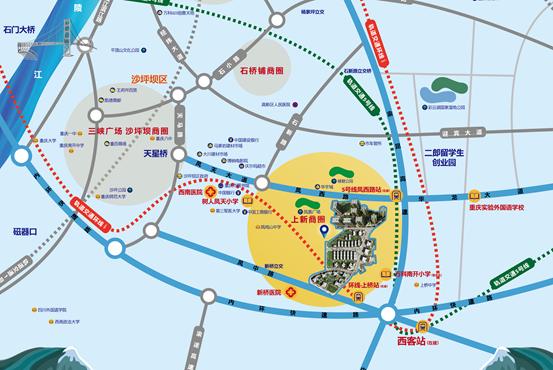 万科金色悦城强势布局 打开重庆西站周边新格局
