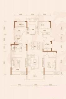 洋房136平米户型