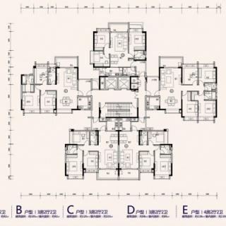 T5栋标准平面图