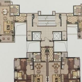 3栋标准层平面示意图