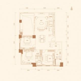 公寓10号楼130平户型