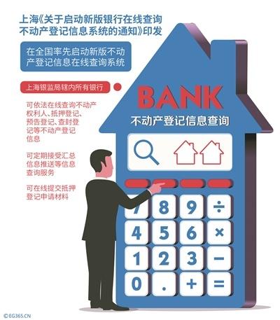 上海率先启用新版银行在线查询不动产登记信息系统