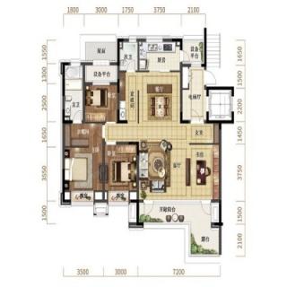 洋房140平二层户型