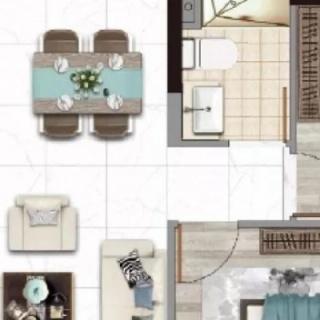 建面85平两房户型