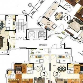 4栋二至十七层楼层分布图