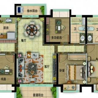 Y057-A户型,4室2厅2卫
