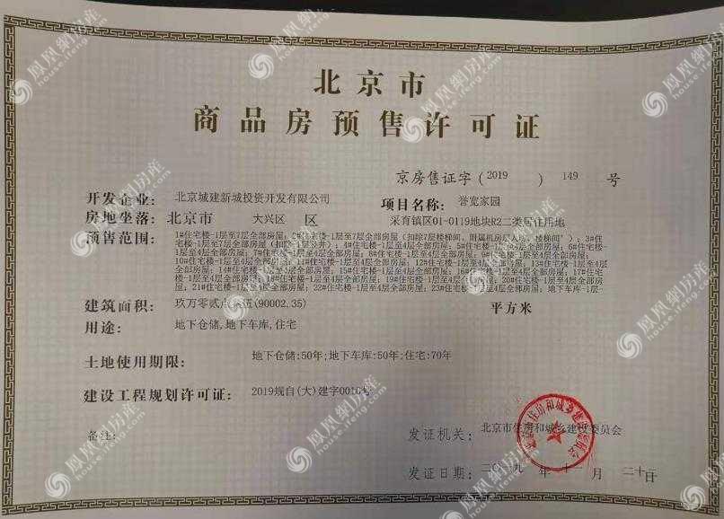 北京城建·宽院·国誉府项目证照6