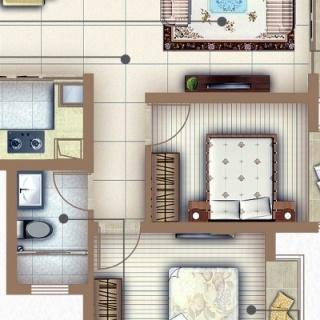户型A 两房两厅一卫