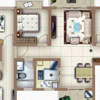 户型C1四房两厅两卫