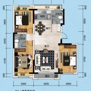 三室二厅二卫119.84㎡
