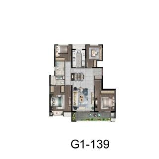 G1户型139平