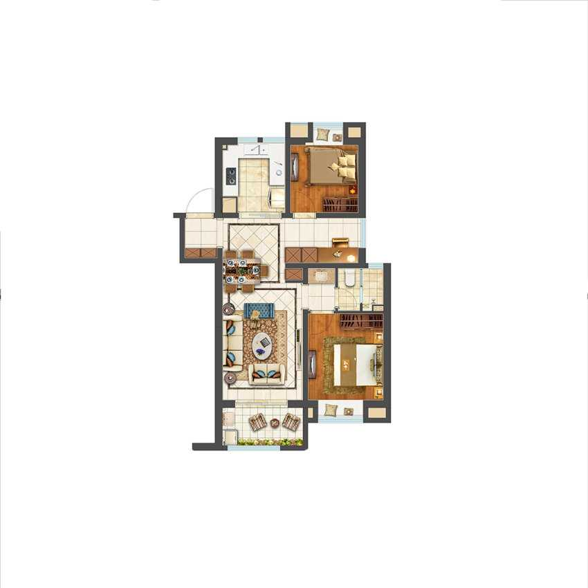 105平米 3室B户型