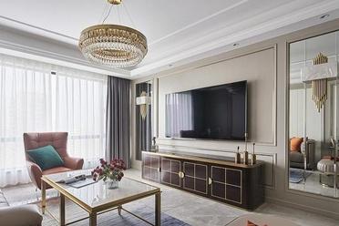 不相连的客餐厅设计是亮点,电视柜像巧克力